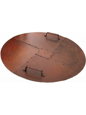 Round wrought iron well stopper