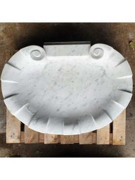 Lime stone shell sink