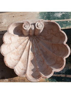 Lavandino a Conchiglia in marmo rosso di Verona