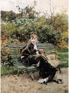 """Berthe con Dida """"Sulla panchina al Bois (Hyde Park)"""", 1872"""