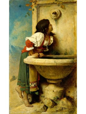 Roman Girl at a Fountain by Léon Bonnat [French, Bayonne 1833–1922 Monchy-Saint-Eloi] 1875