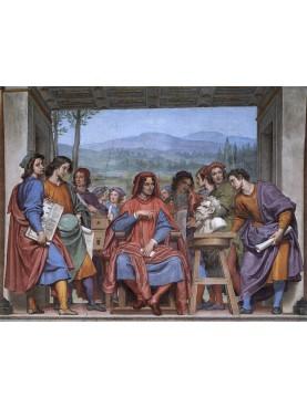 Lorenzo il Magnifico nell'affresco di Ottavio Vannini del 1637-42.
