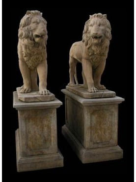 Large stone lions