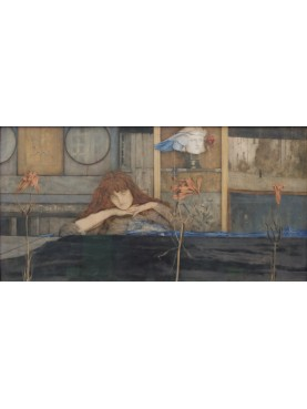 La Notte Hipnos - God of Sleep painting by Fernand Khnopff