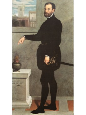 Pietro Secco Suardo painted by Giovanni Battista Moroni, 1563, Uffizi of Firenze