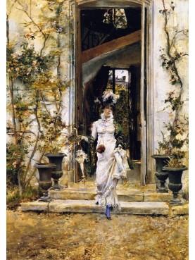 Quadro di Giovanni Boldini, Berthe esce per la passeggiata, 1874.