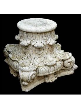 Coppia di Capitelli corinzii in pietra