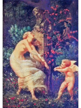 Gustave Boulanger (1824-1888) Cupid and Venus captured.