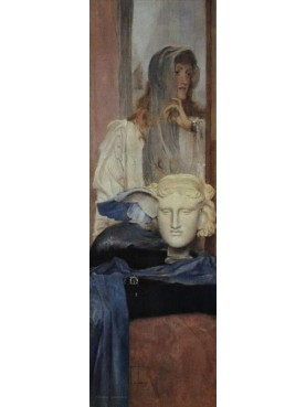 La Notte Hipnos - Dio del Sonno Dipinto di Fernand Khnopff