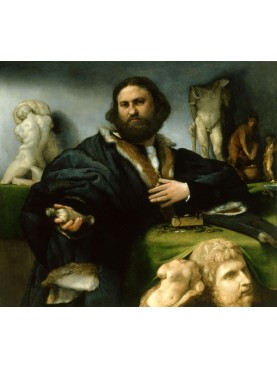 portrait of Andrea Odoni, painted by Lorenzo Lotto in 1527