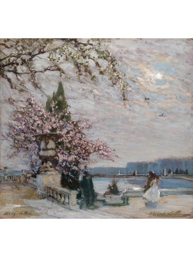 Primavera a Versailles, Constantin Aleksandrovich Westchiloff, 1938. Russia, 1877-1945