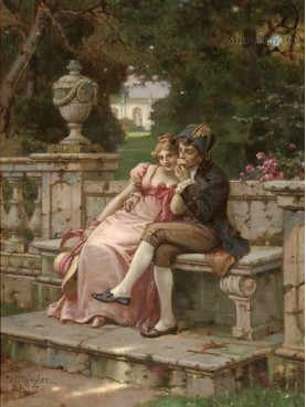 Wilhelm Menzler Casel (German, 1846-1926) The kiss