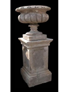 Medici's vase on classic base H.143cms