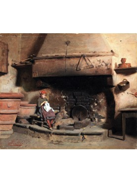 Camino per cucina in pietra