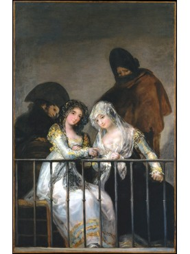 "The railing of Francisco de Goya ""Maja and Celestina at the balcony"""
