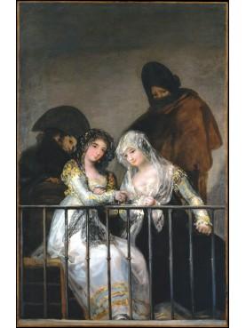 """La ringhiera di Francisco Goya """"Majas e Celestina al balcone"""" ferro battuto"""