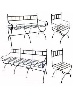Set VERSILIA ARREDI INFERRO due divanetti, sedia e poltroncina