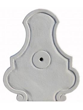 Frontalino in marmo bianco di Carrara