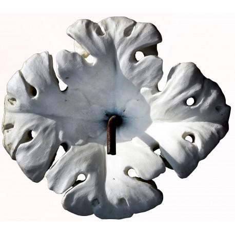 White flower in white Carrara marble