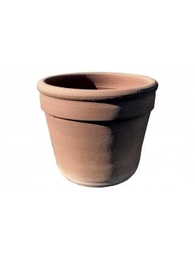 Vasi piccoli per serre con Ø20cm e H16cm torniti a mano in terracotta