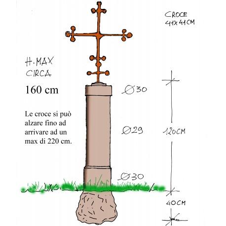 Cippo Termine Terminino pilastro per carraia con croce