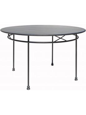 Tavolo semplice Ø120cm a crocette in ferro battuto a 4 gambe