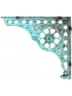 Six cast iron brackets 80cms