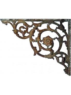 Grande mensola in ghisa 112cm antica di epoca ottocentesca