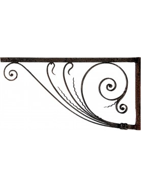 Pair of ancient Forged Iron Brackets 106cms