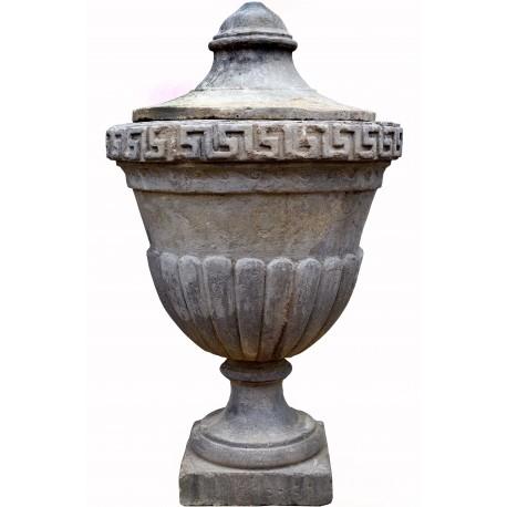 Grande Vaso neoclassico H.100cm in cemento