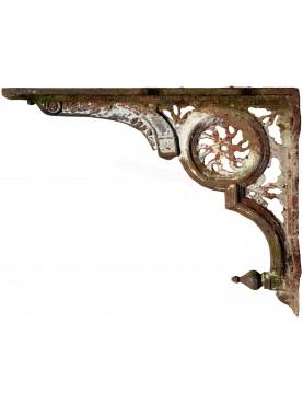 Grande mensola in ghisa 97cm antica di epoca ottocentesca