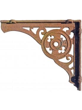 Grande mensola in ghisa 76cm antica di epoca ottocentesca