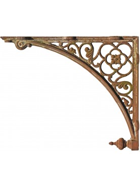 Large cast iron bracket 92cms nineteenth century