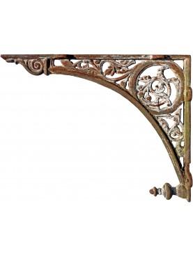 Grande mensola in ghisa 75cm antica di epoca ottocentesca