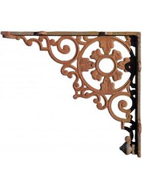 Grande mensola in ghisa 66cm antica di epoca ottocentesca
