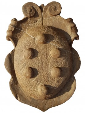Stemma Mediceo in pietra da cui abbiamo tratto la forma