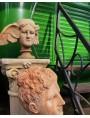 La Notte Hipnos testa in terracotta patinata copia fedele dell'originale