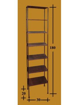 Libreria verticale H 180 a 7 ripiani