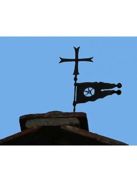 Croce Templare e banderuola con pentacolo