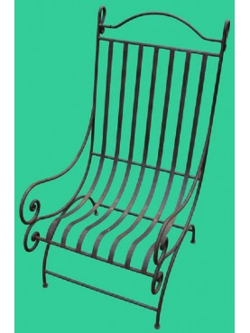 Garden armchair in iron