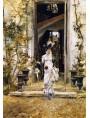Bellissimo quadro di Giovanni Boldini, Berthe esce per la passeggiata, 1874.