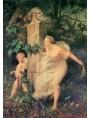 Work of Gustave Boulanger (1824-1888) Cupid and Venus captured.