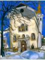 Marc Chagall, Chiesa coperta di neve, 1927.