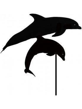 Coppia di Delfini che saltano banderuola in ferro