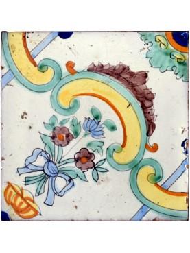 Piastrella della prima metà del 1900 - maiolica di Vietri