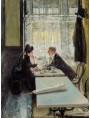 Gotthardt Kuehl (1850-1915), Lovers in a Cafe, collezione privata, olio su tavola.