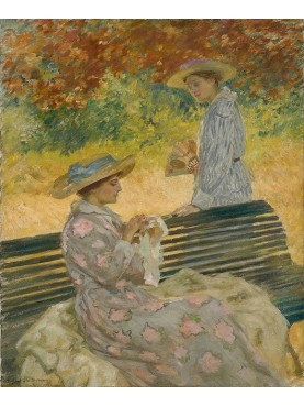 Rupert Bunny, The Garden Bench, 1915, Sydney, Art Gallery of New South Wales, oil on canvas.