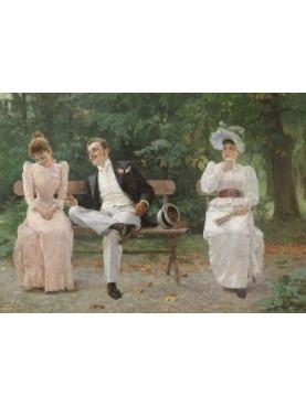 Tihamer Margitay, Gelosia, 1892, Budapest, Galleria Nazionale, olio su tela.