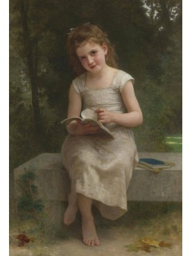 William Bouguereau, La Liseuse, 1895, private collection, oil on canvas.