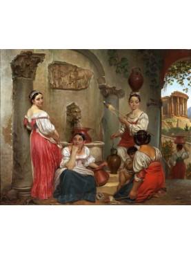 Philippe-Jacques van Bree, Presso la fontana, 1832, Collezione privata.
